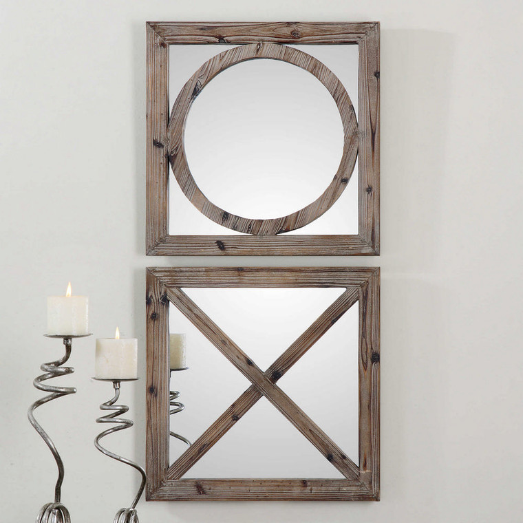 Baci e Abbracci Square Mirrors S/2 by Uttermost