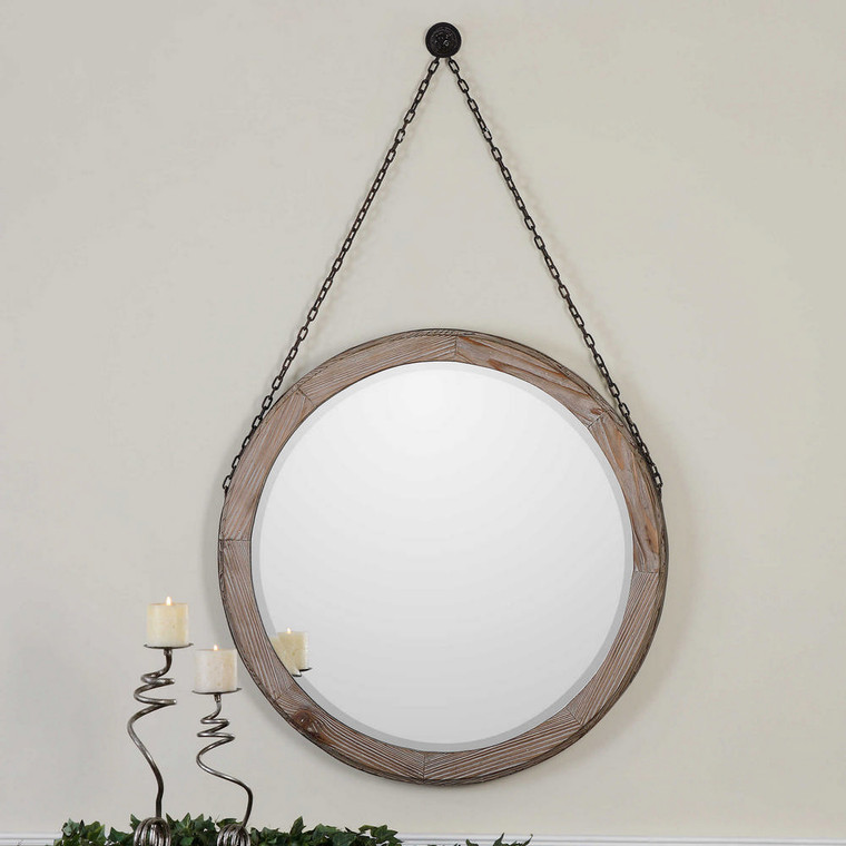 Loughlin Round Mirror by Uttermost
