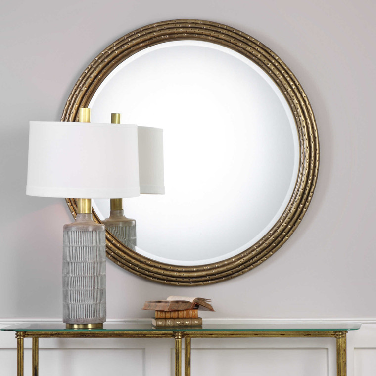 Spera Round Mirror by Uttermost