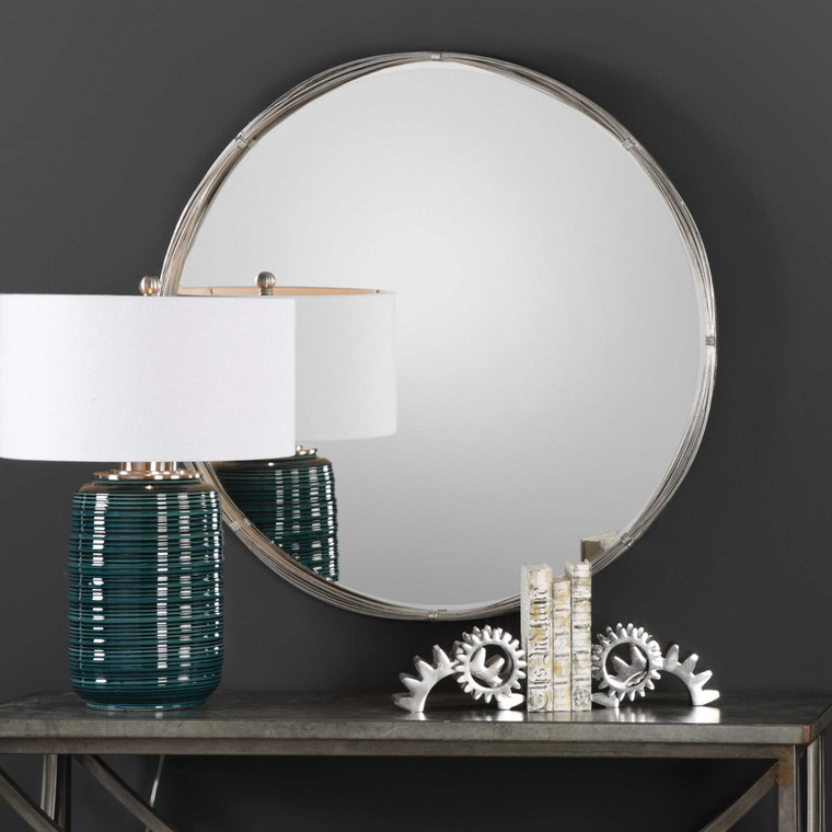 Ohmer Round Mirror by Uttermost