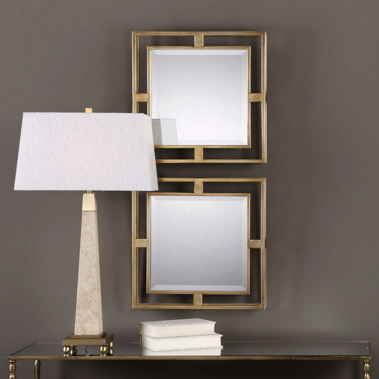 Allick Square Mirrors S/2 by Uttermost