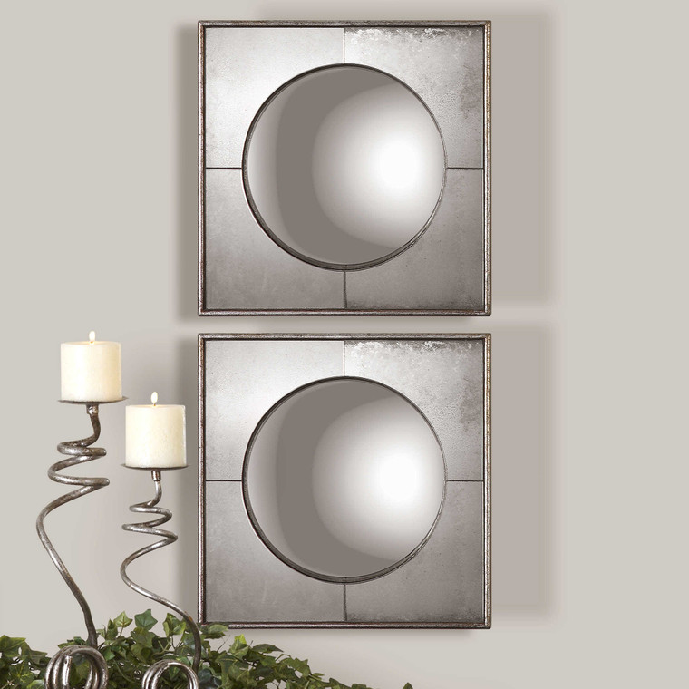 Savio Square Mirrors S/2 by Uttermost