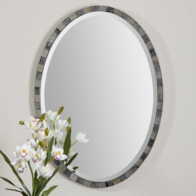 Paredes Oval Mirror by Uttermost