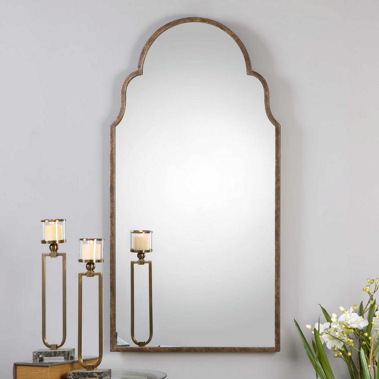 Brayden Tall Arch Mirror by Uttermost