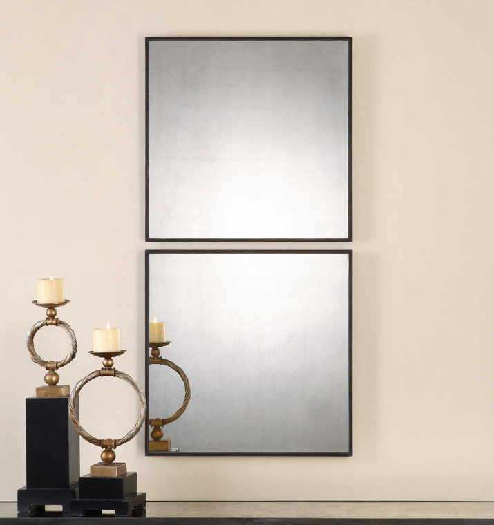 Matty Square Mirrors S/2 by Uttermost
