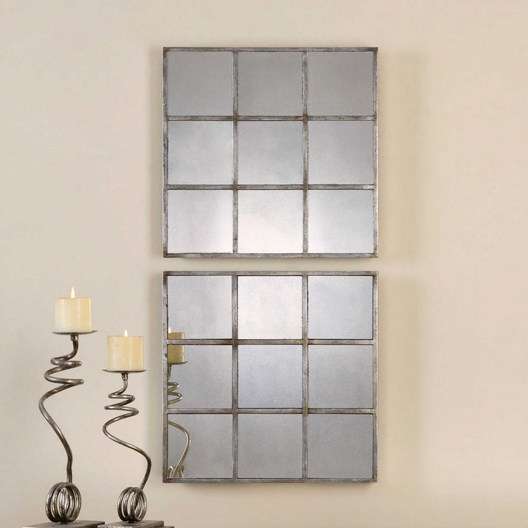 Derowen Square Mirrors S/2 by Uttermost