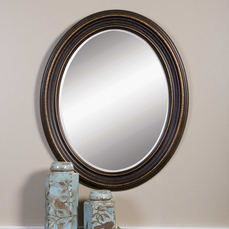 Ovesca Oval Mirror by Uttermost