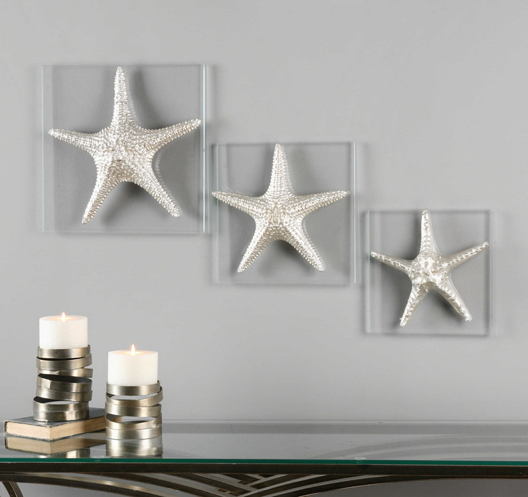 Silver Starfish Wall Decor S/3 by Uttermost