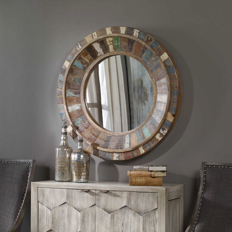 Jeremiah Round Mirror by Uttermost