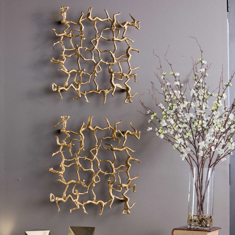 Golden Gymnasts Wall Square by Uttermost