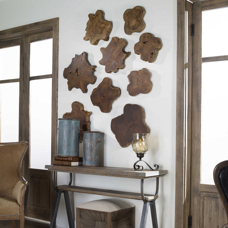 Kalani Wood Wall Decor S/3 by Uttermost