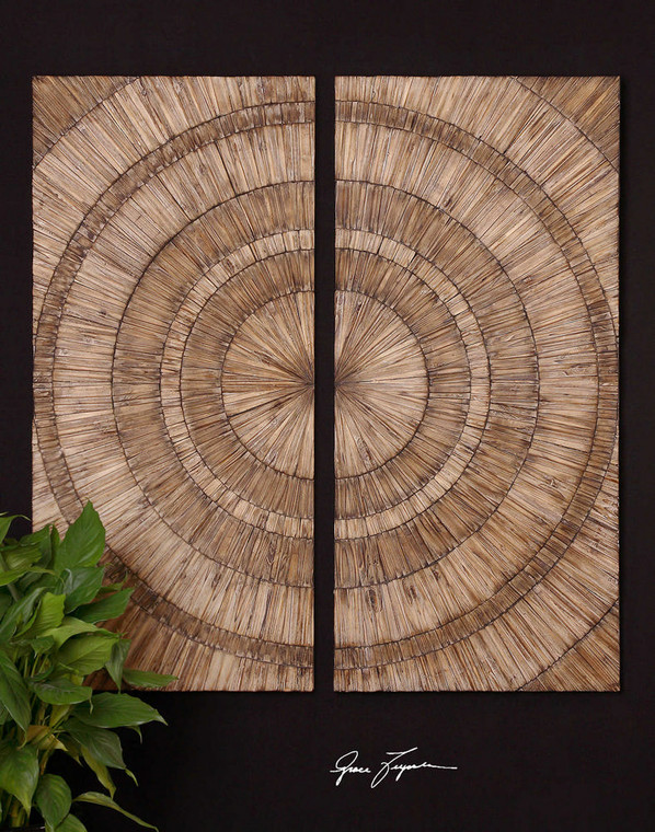 Lanciano Wood Wall Panels S/2 by Uttermost