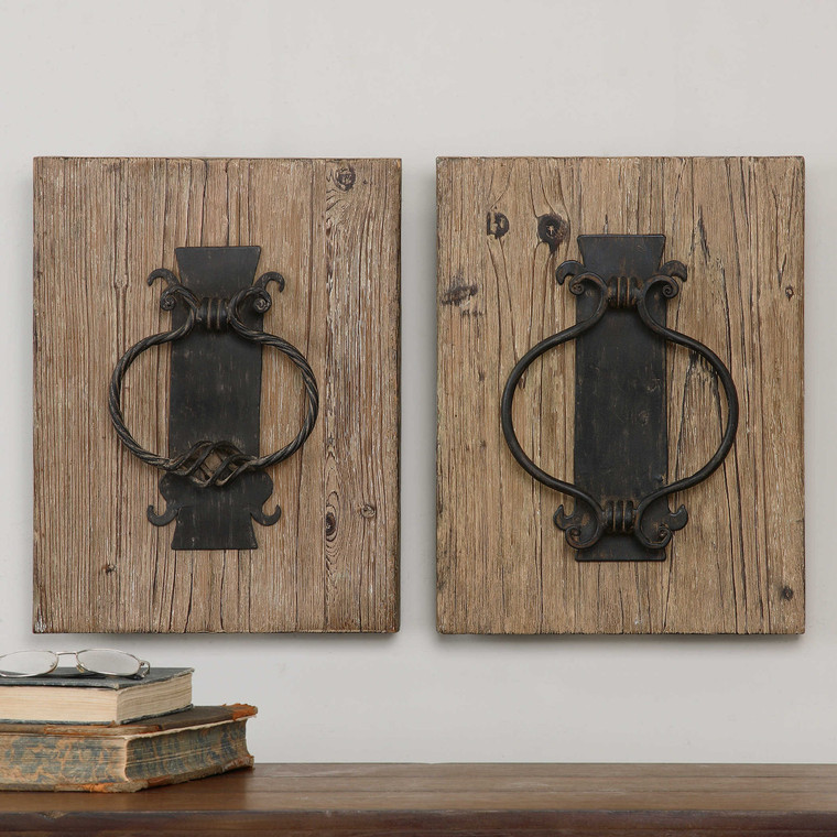 Rustic Door Knockers S/2 by Uttermost