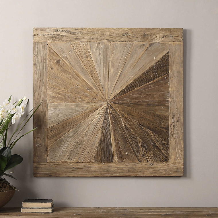 Hoyt Wood Wall Panel by Uttermost