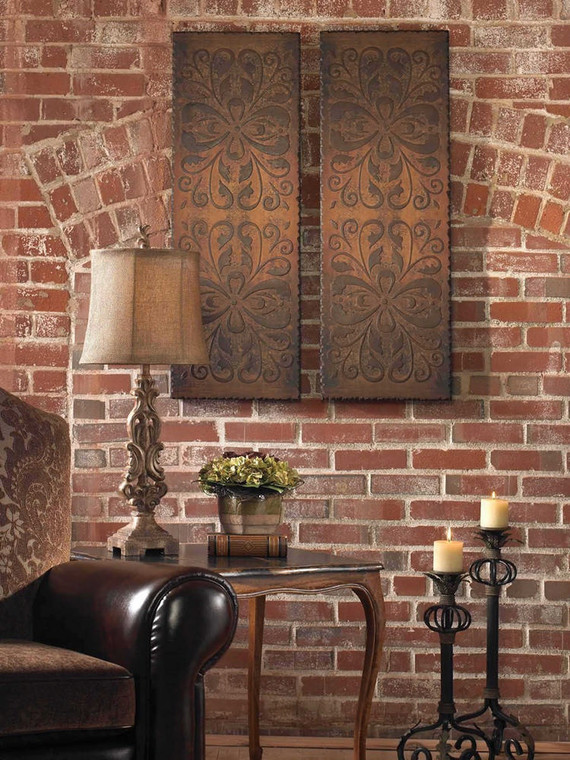 Alexia Wood Wall Panels S/2 by Uttermost