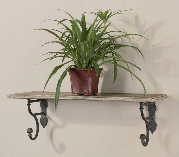 Gualdo Wood Wall Shelf by Uttermost