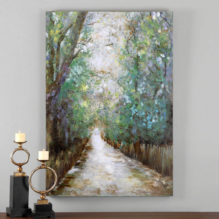 Greenway Hand Painted Canvas by Uttermost