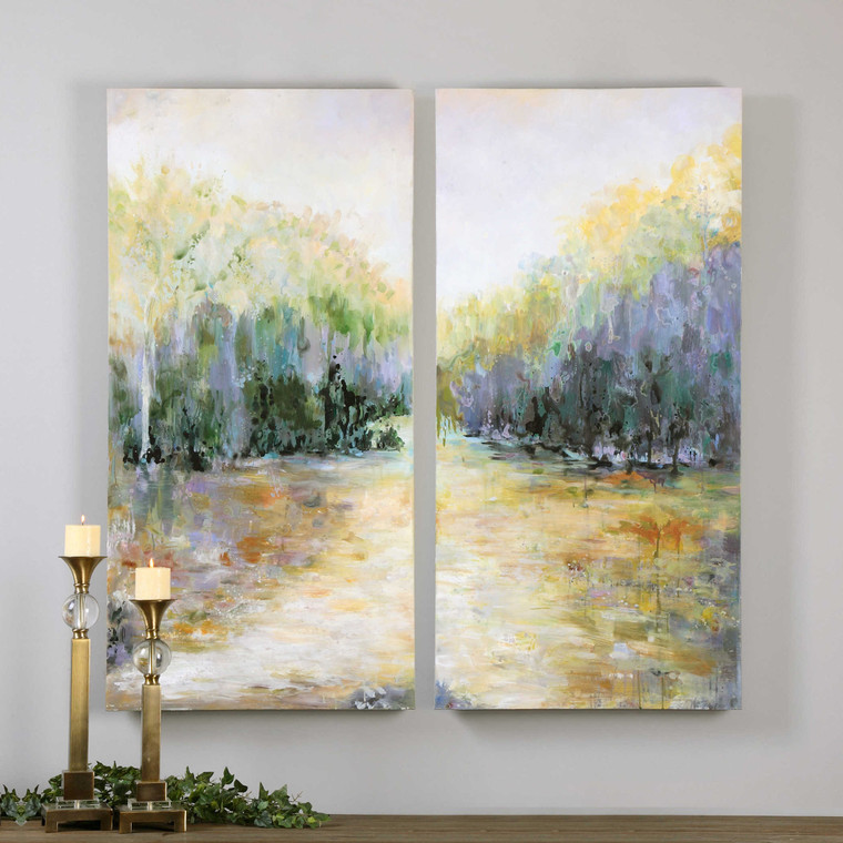 Summer View Hand Painted Canvases S/2 by Uttermost
