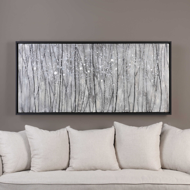 Snowfall Hand Painted Canvas by Uttermost