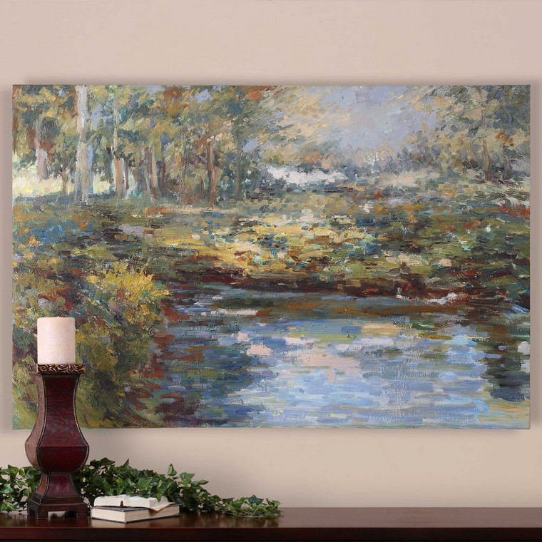 Lake James Hand Painted Canvas by Uttermost