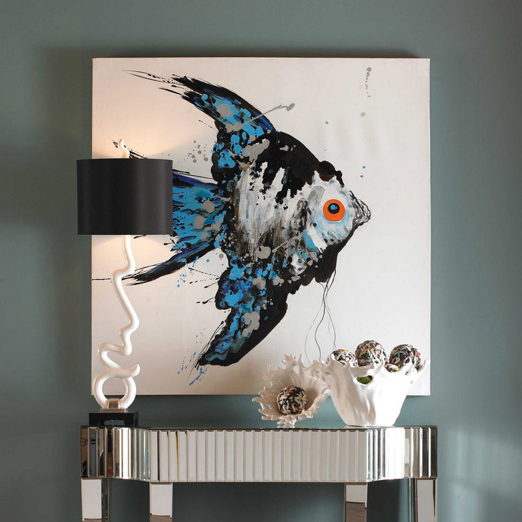 Blue Angel Hand Painted Canvas by Uttermost