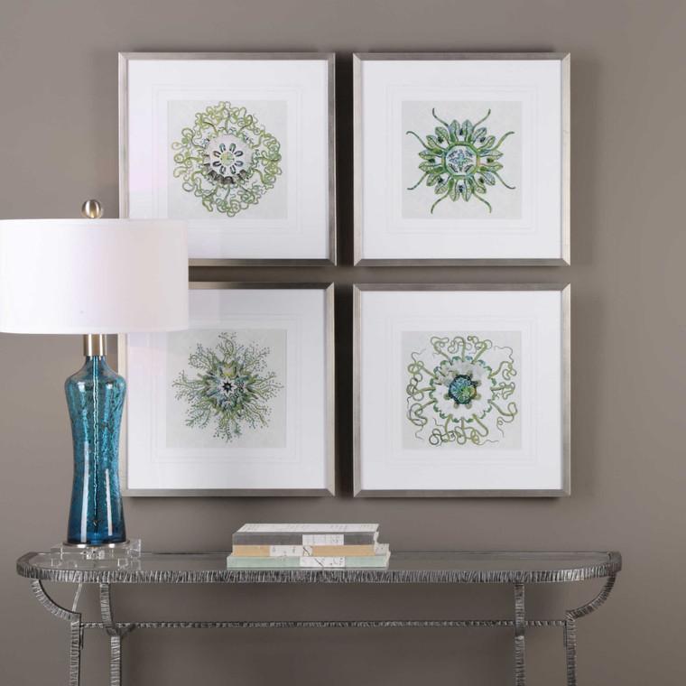 Organic Symbols Framed Prints S/4 by Uttermost