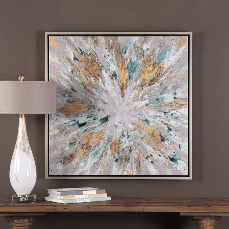 Exploding Star Hand Painted Canvas by Uttermost