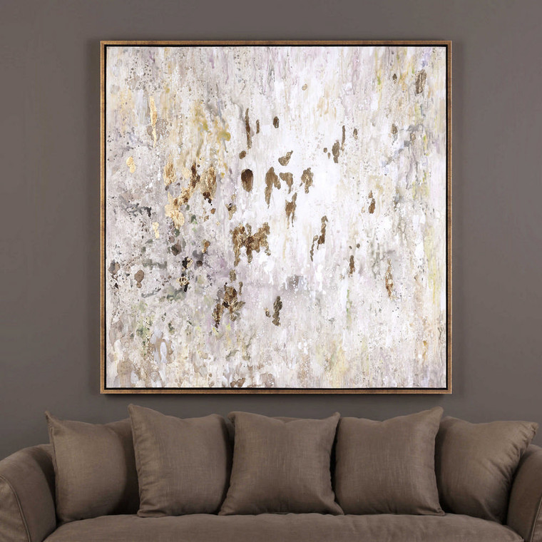 Golden Raindrops Hand Painted Canvas by Uttermost