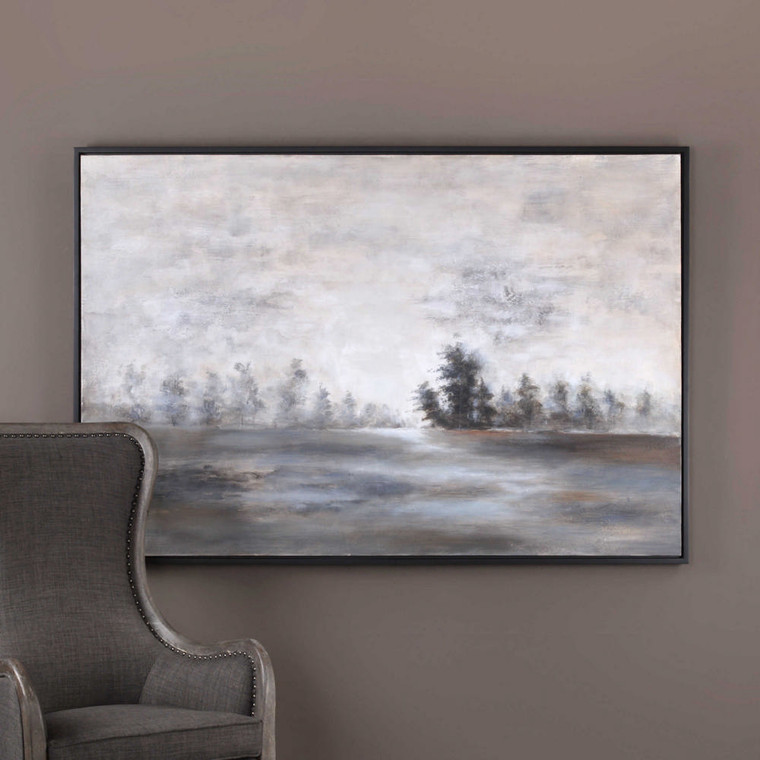 Evening Mist Hand Painted Canvas by Uttermost