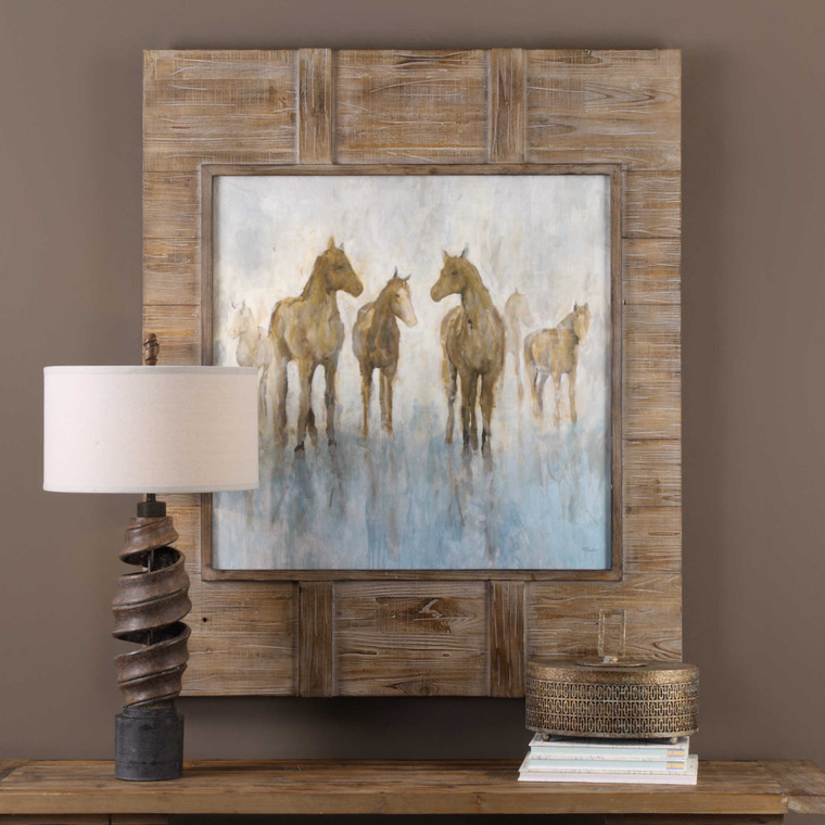 Headed To The Barn Framed Print by Uttermost