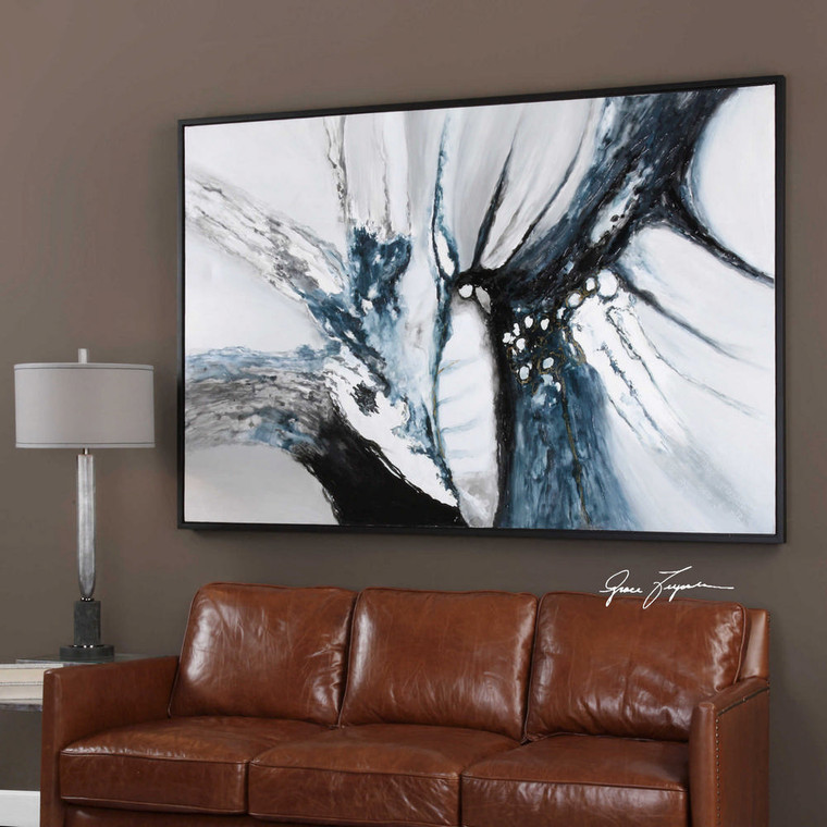 Go With The Flow Hand Painted Canvas by Uttermost