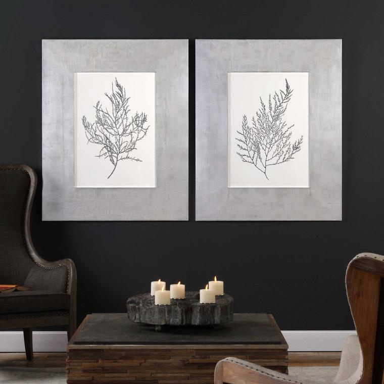 Silver Foil Algate Framed Prints S/2 by Uttermost