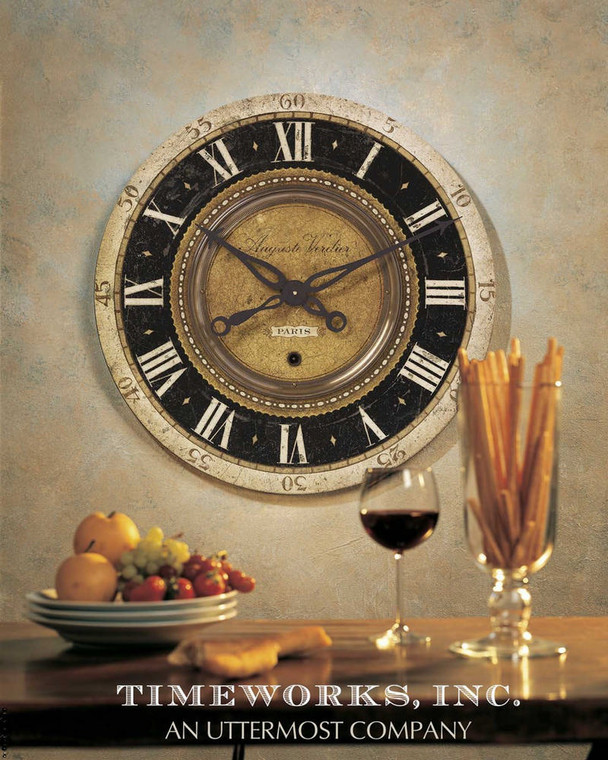 Auguste Verdier Wall Clock by Uttermost