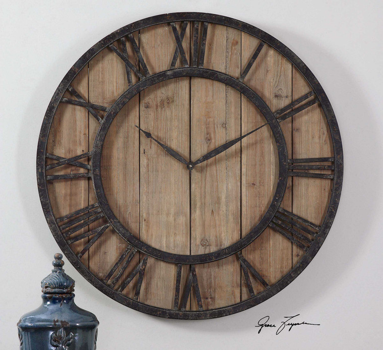 Powell Wall Clock by Uttermost