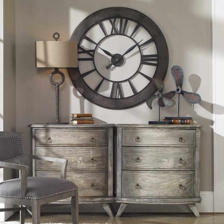 Ronan Wall Clock by Uttermost