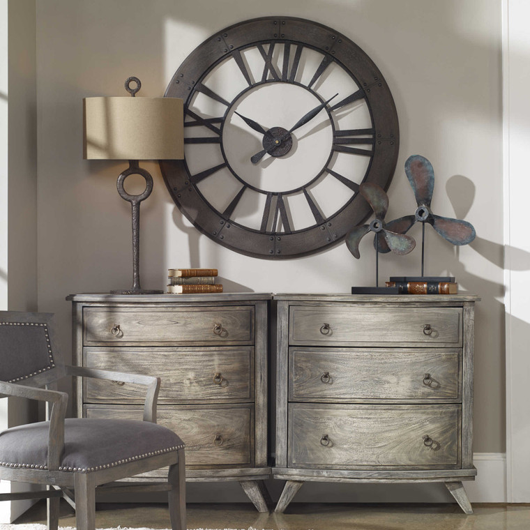 Ronan Wall Clock by Uttermost