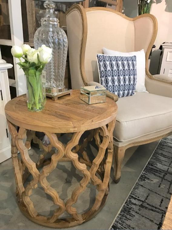 Lattice Side Table - Reclaimed Wood
