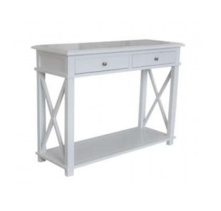 Xavier Console Table Small - Matt White