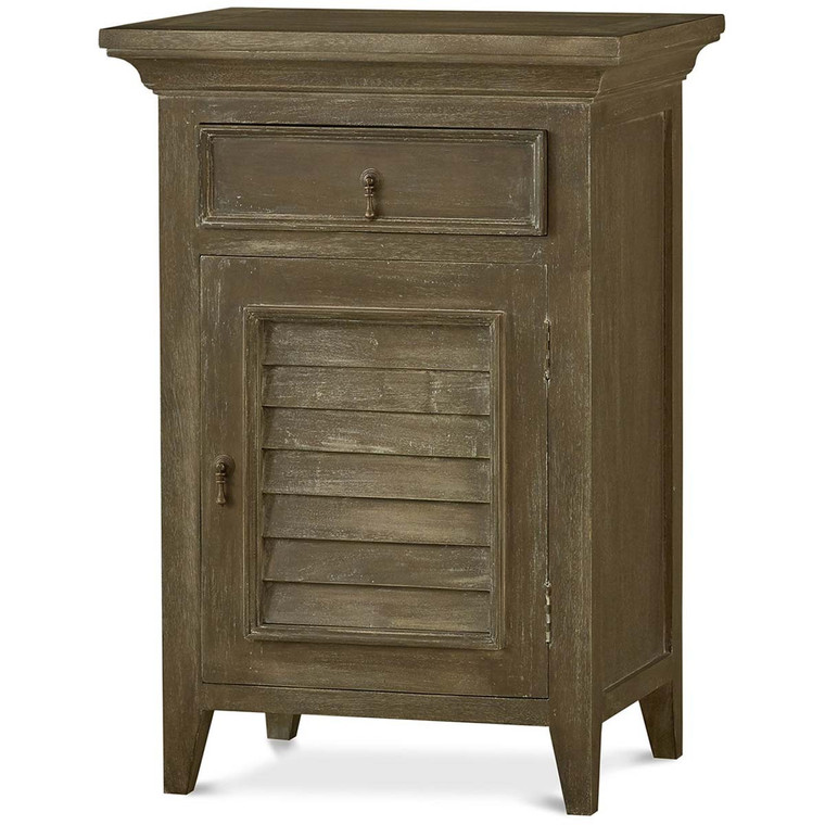 Shutter Nightstand Large - Size: 89H x 61W x 46D (cm)