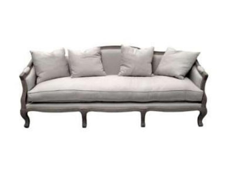 Moliere 3 Seat Sofa - Weathered Oak/Linen