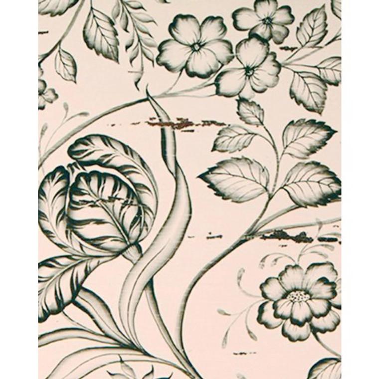 A14 Black Floral Artwork by Bramble Co