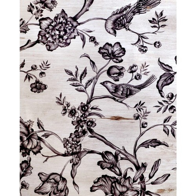 A177 Black Bird & Floral by Bramble Co
