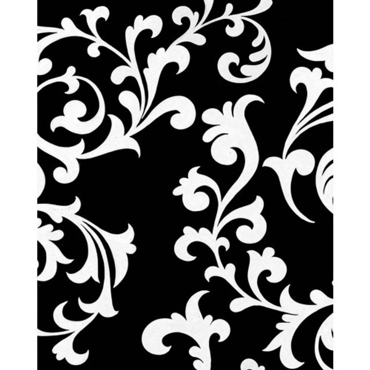 A460 White Scrolling On Black by Bramble Co