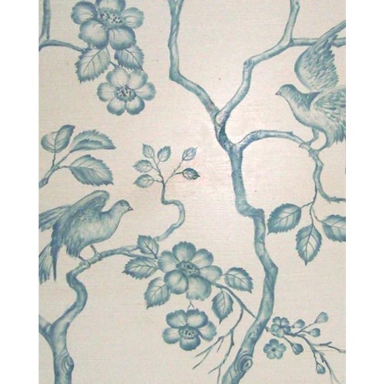 A74 Blue Small Birds W/ Flowers by Bramble Co