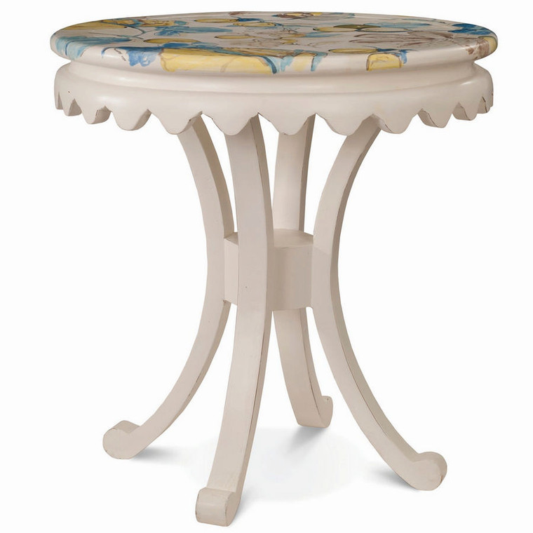 Crown Curved-leg Side Table - Size: 74H x 71W x 71D (cm)