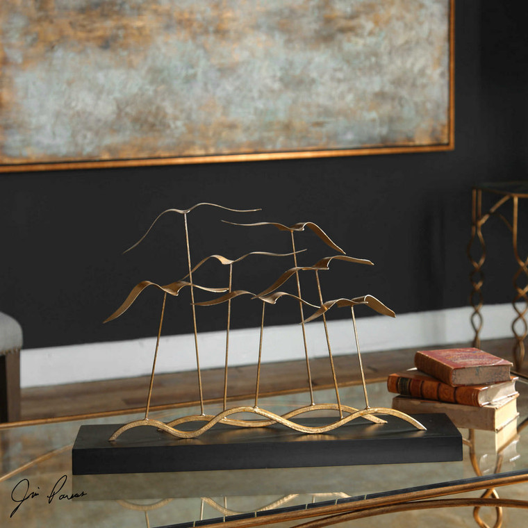 Flock of Seagulls Sculpture by Uttermost