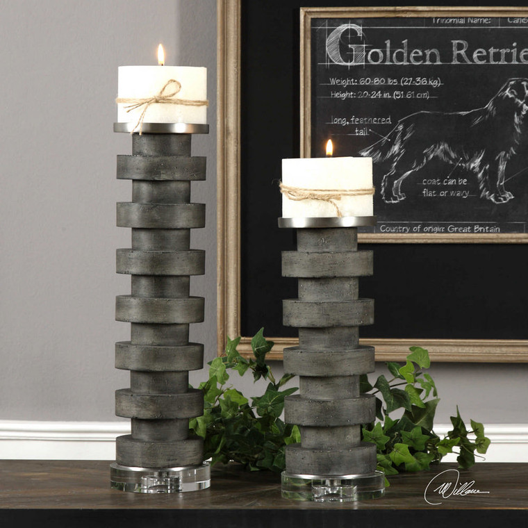 Karun Candleholders S/2 by Uttermost