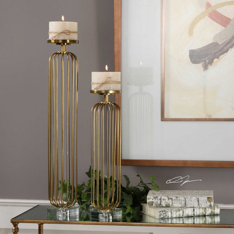 Cesinali Candleholders S/2 by Uttermost