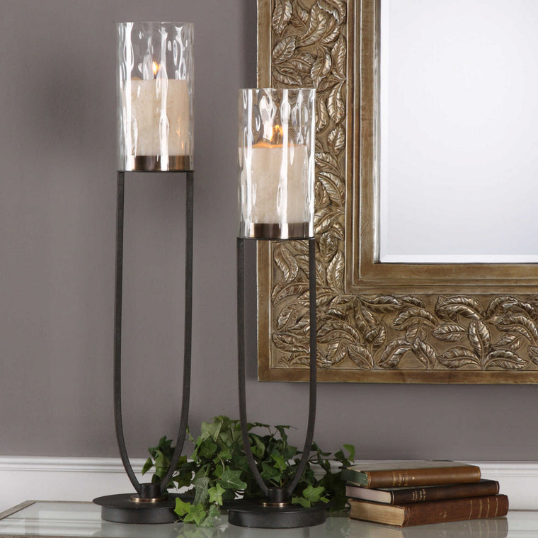 Durga Candleholders S/2 by Uttermost