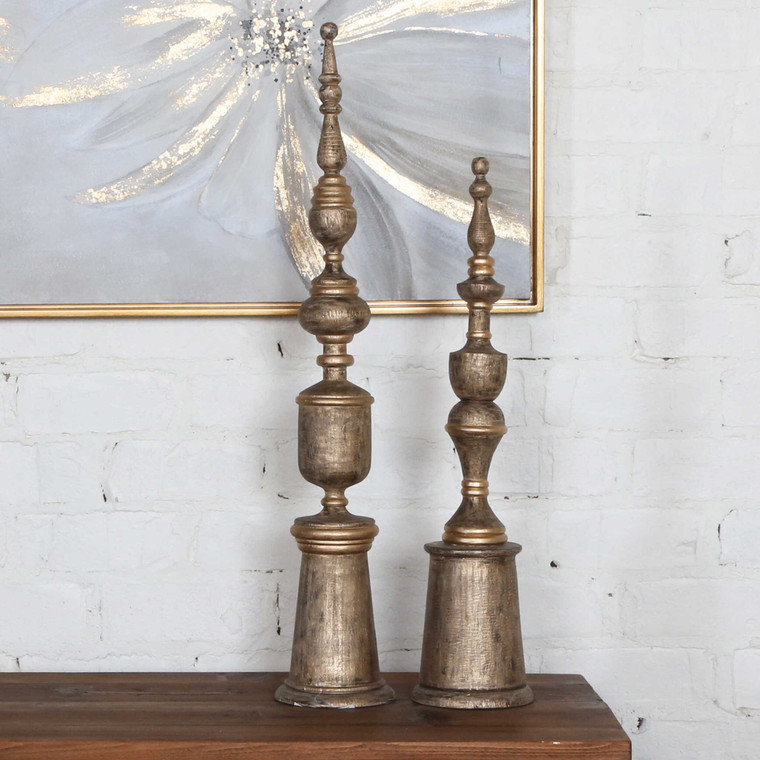 Nalini Finials S/2 by Uttermost